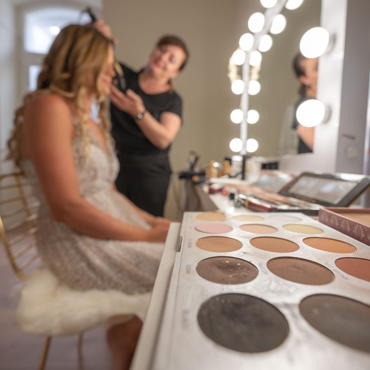 Braut Makeup Room